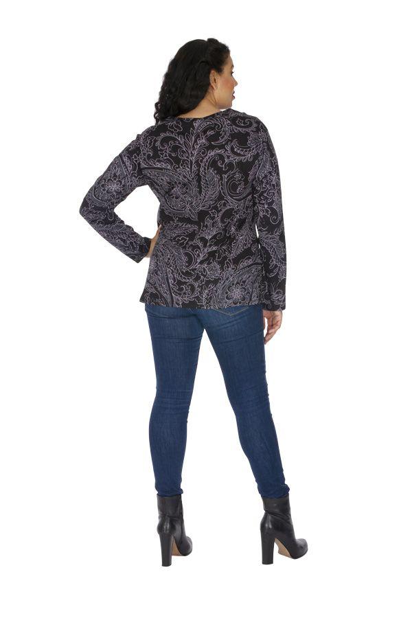 Tunique grande taille femme en coton originale Chamie 313788