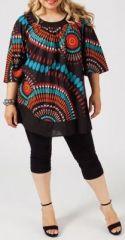 Grande taille tunique coloree et ethnique pour femme - Credence originale pas chere ...