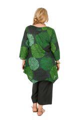 Tunique grande taille très jolie en tons verts Melissa 309844