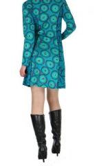Tunique imprimée bleue avec poches Dounia 267142