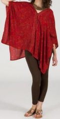 Tunique large et �vas�e originale et pas ch�re Rouge Palmira 272269