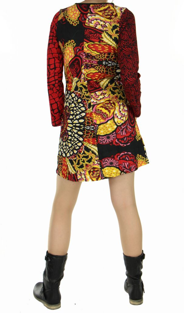 Tunique mode ethnique cantoh rouge 266883