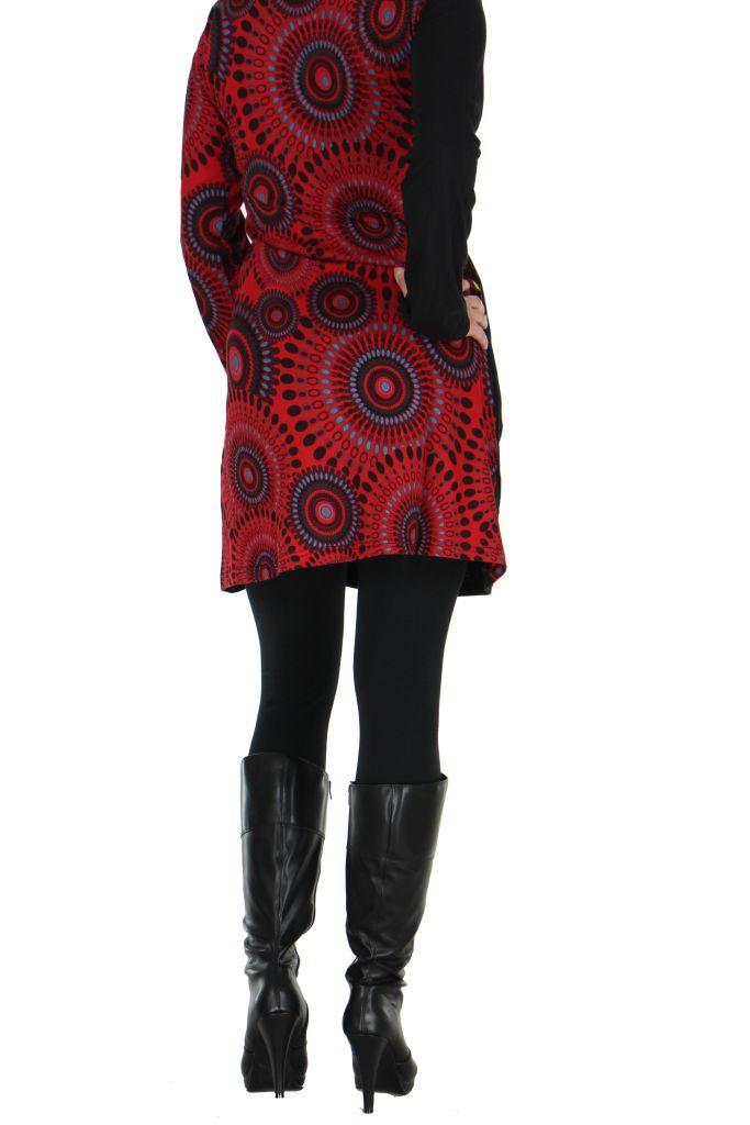 Tunique noire à manches longues Kamilia 266599