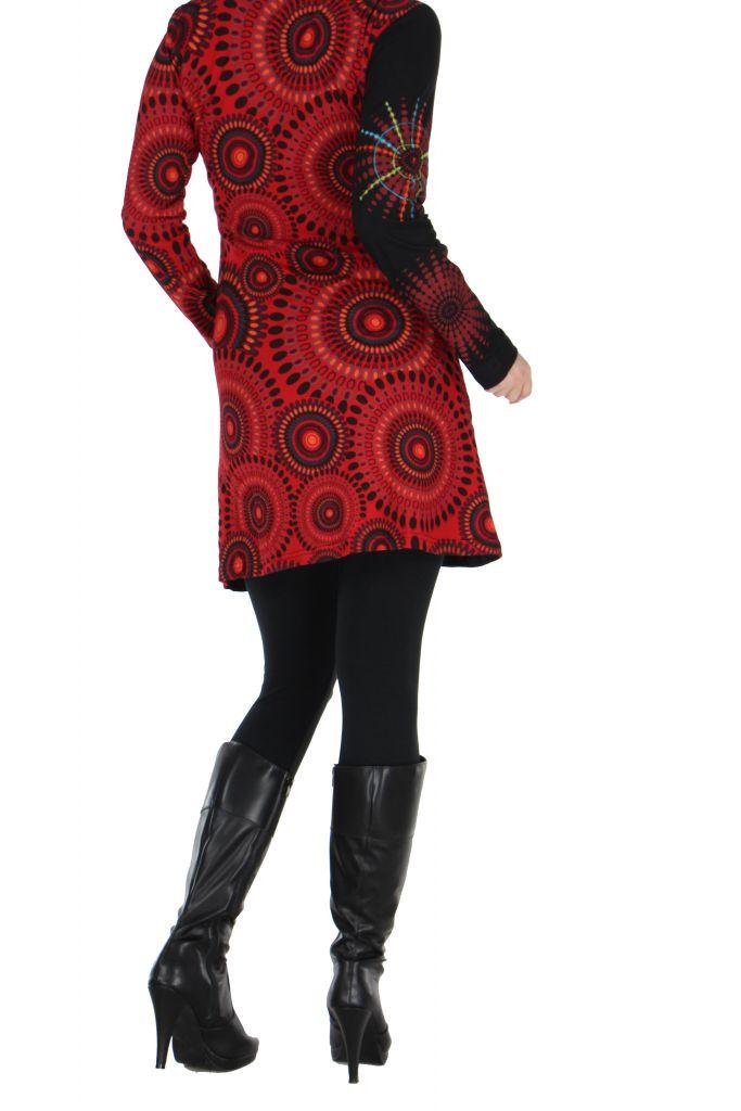 Tunique noire avec broderie Cécilia 266581