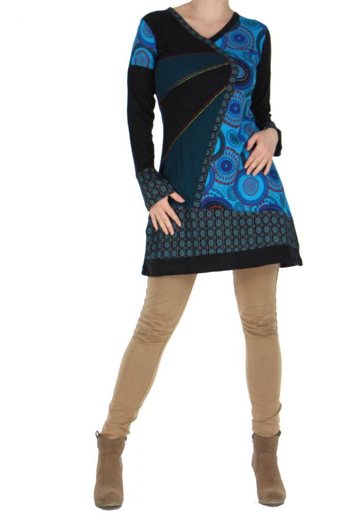 Tunique noire patchwork Musilia 266707