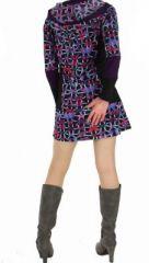 Tunique originale à capuche papillons violette 266884