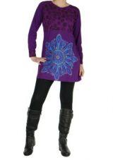 Tunique originale � manches longues noela violette 265037