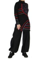 Tunique originale � manches longues ylona noire 265112