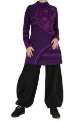 Tunique originale � manches longues ylona violette 265110