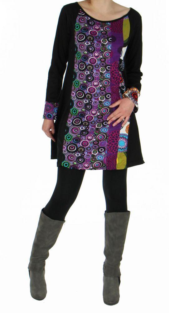Tunique originale colorée sunflower violette 248339