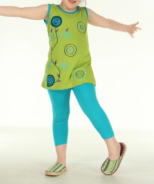 Tunique originale enfant verte Noline 270826