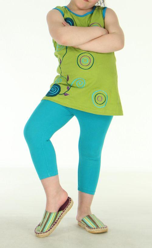 Tunique originale enfant verte Noline 270827