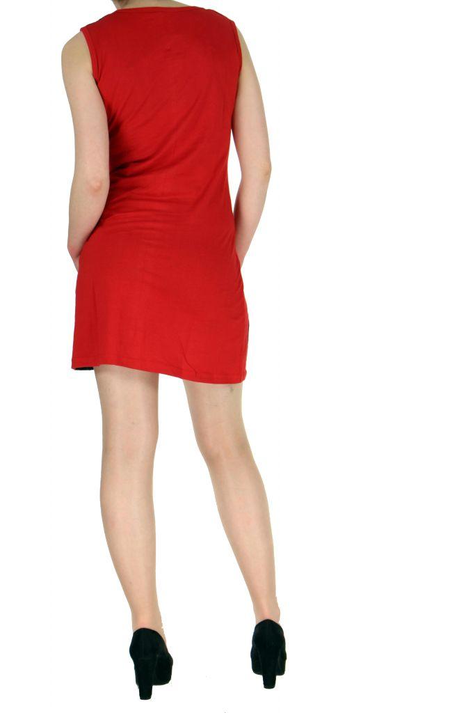 Tunique originale rouge en coton Paula 268610