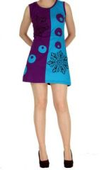 Tunique originale violette en coton Paula 268611