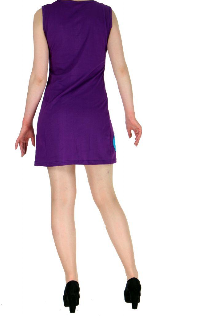 Tunique originale violette en coton Paula 268612