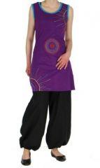 Tunique originale violette sans manches Andr�a 268698