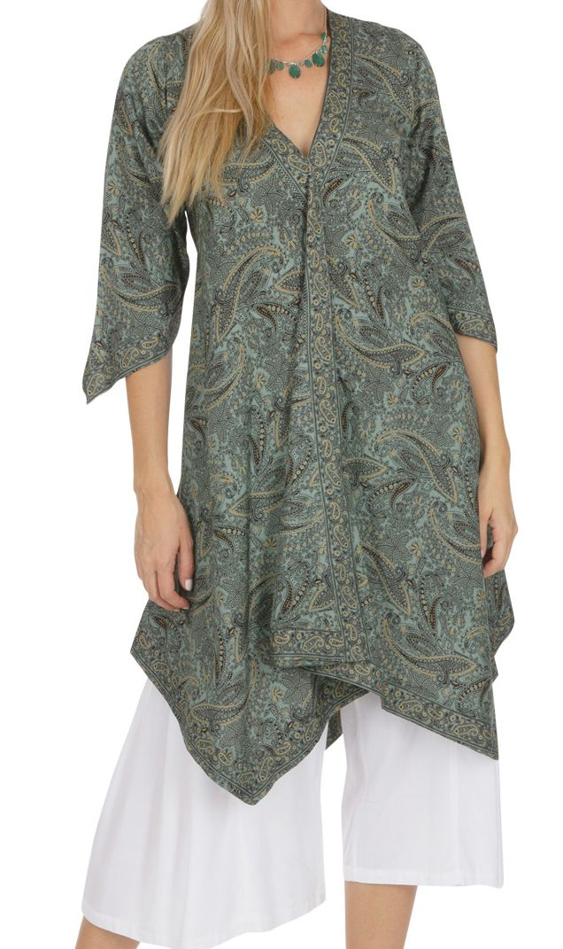 Tunique ou robe d\'été pour femme bohème et ample Stéphanie