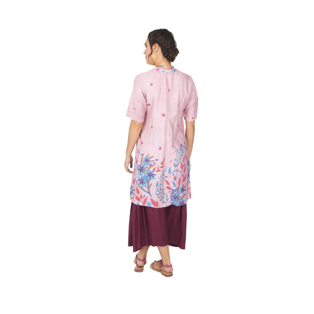 Tunique ou robe de plage à fleurs ethnique Sandriny 316821
