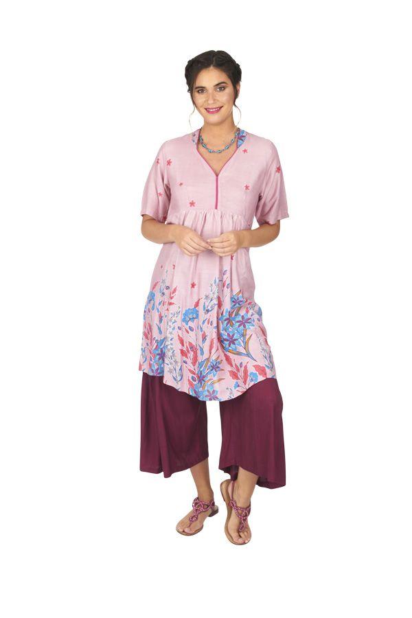 Tunique ou robe de plage à fleurs ethnique Sandriny 316822