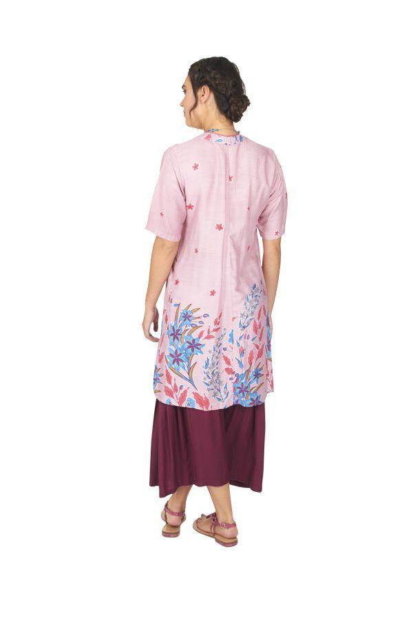 Tunique ou robe de plage à fleurs ethnique Sandriny 316823