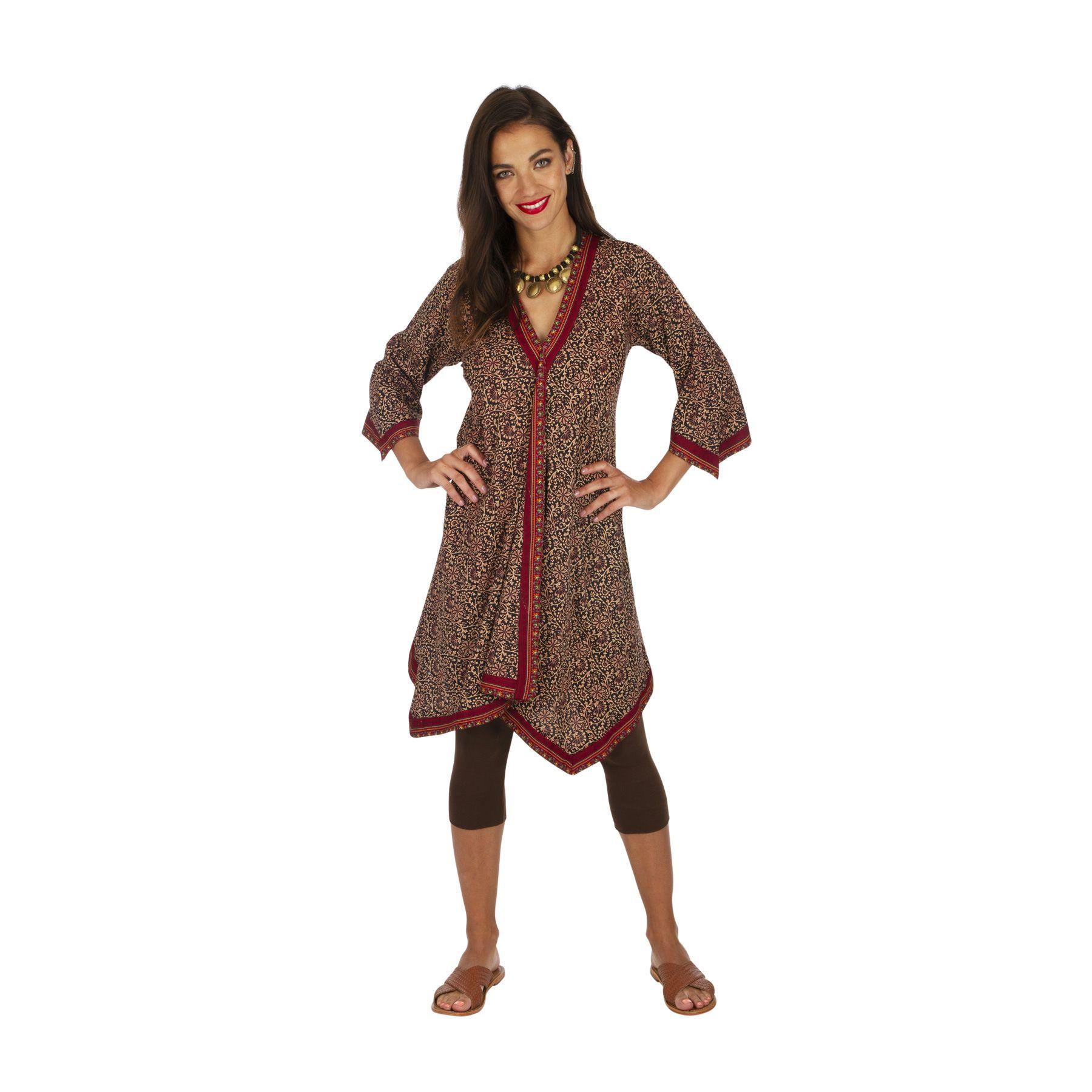 Tunique ou robe été pour femme asymétrique fleurie Lambda