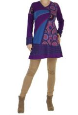 Tunique patchwork violette Musilia 266709