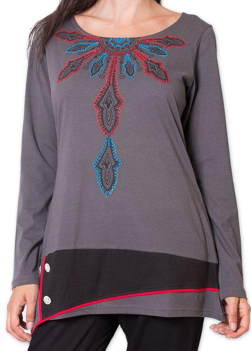 Tunique pour Femme Ethnique et Colorée Kamchatka Grise 275799