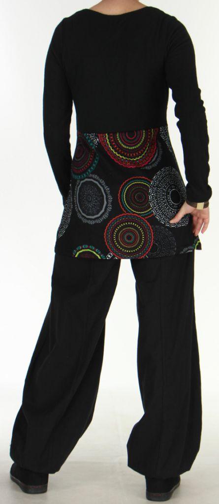 Tunique pour Femme Ethnique et Originale Odeline Noire 275967