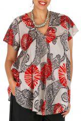 Tunique pour femme grande taille originale et colorée Glan 309833