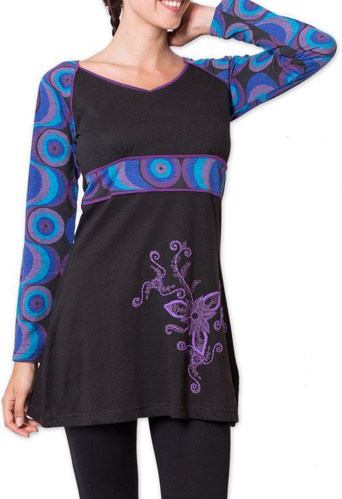 Tunique pour Femme Originale et Colorée Godavary Noir 275791
