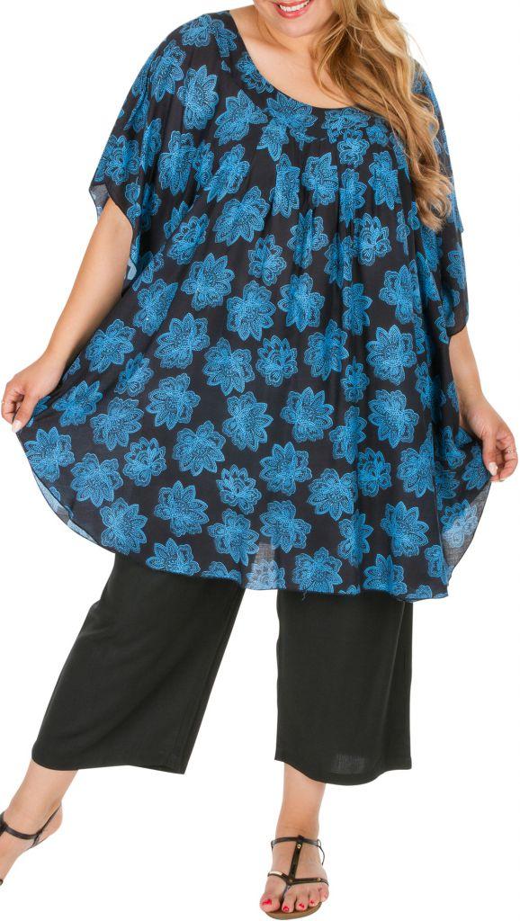 Tunique pour femme ronde ethnique et très agréable Sophia 309804