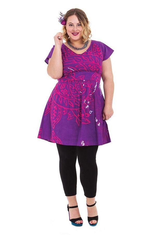 Tunique pour femmes rondes Ethnique et Colorée Alpha Violette 284318