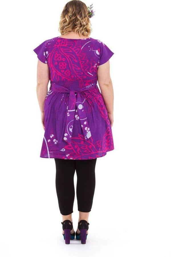 Tunique pour femmes rondes Ethnique et Colorée Alpha Violette 284319