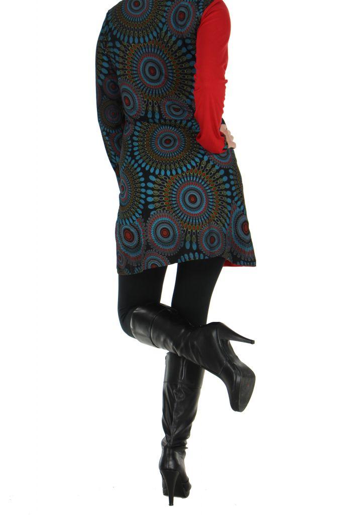 Tunique rouge à manches longues Kamilia 266601