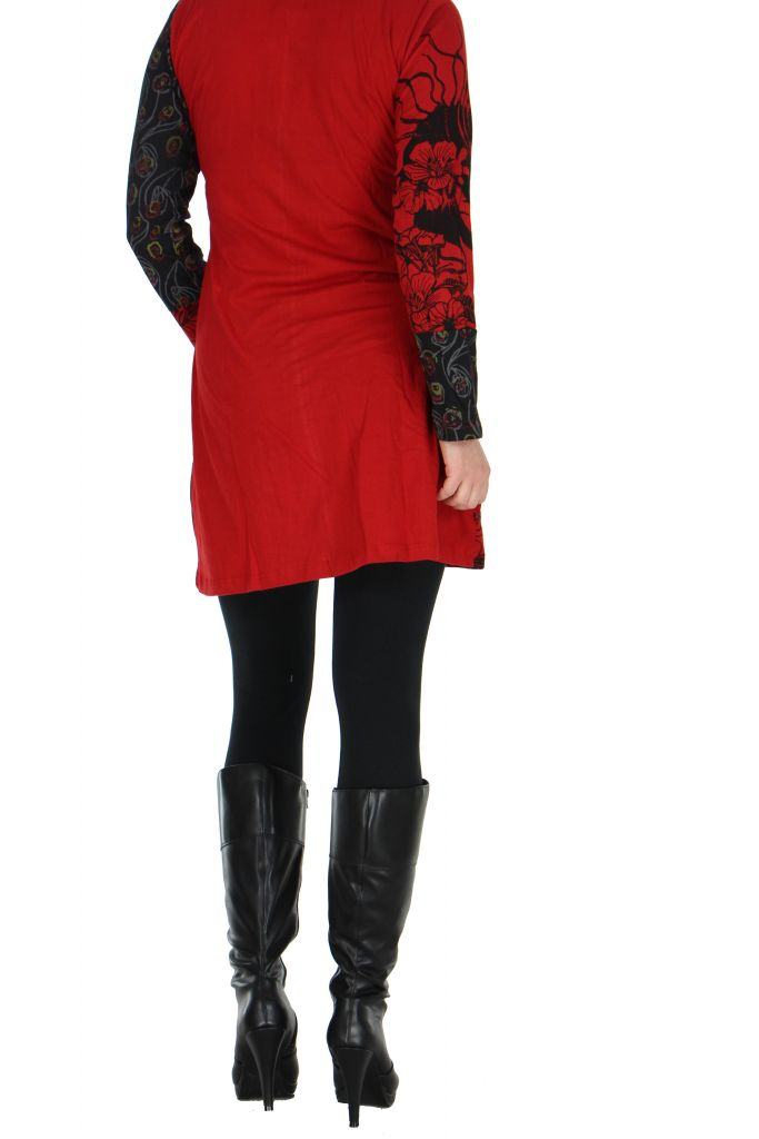 Tunique rouge avec poche Luminia 266609