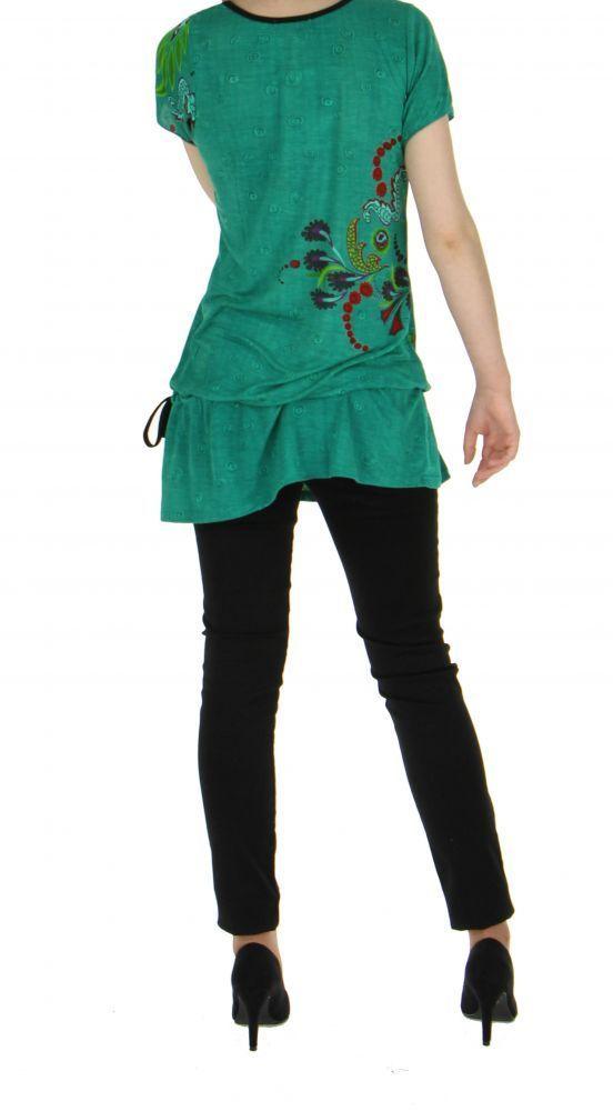 Tunique verte mode ethnique chic imprimée barbade 255727