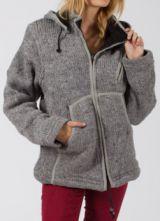 Veste à capuche amovible Mixte Chaude et Ethnique Baltik Grise 277882