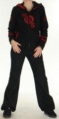 Veste Colorée et Chaude en polaire pour Femme Selen Noire 276288