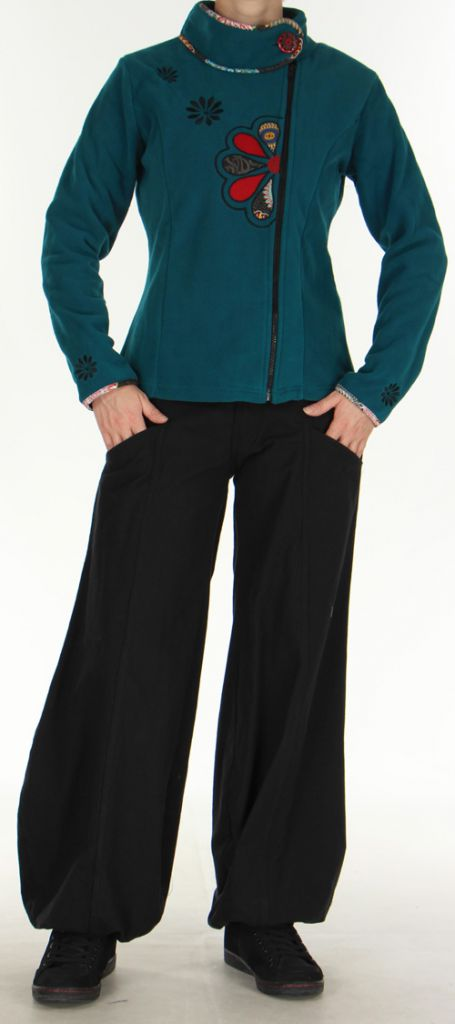 Veste Colorée et Chaude pour Femme en polaire Ohana Emeraude 275976