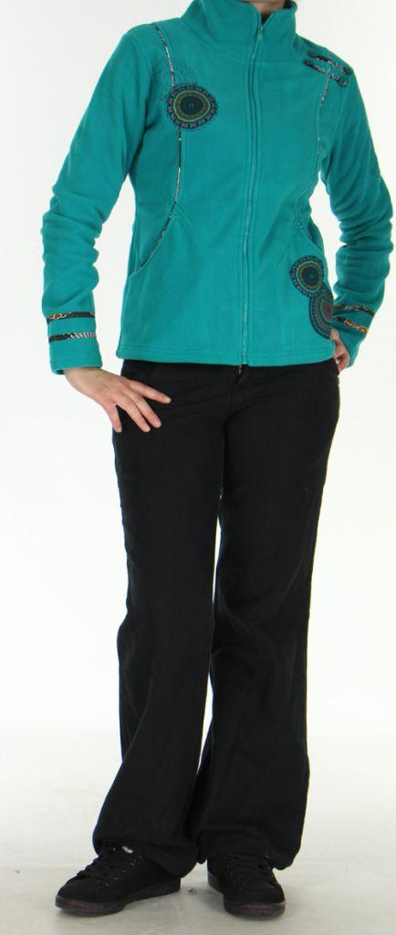 Veste Colorée et Chaude pour Femme en polaire Shainel Emeraude 276200