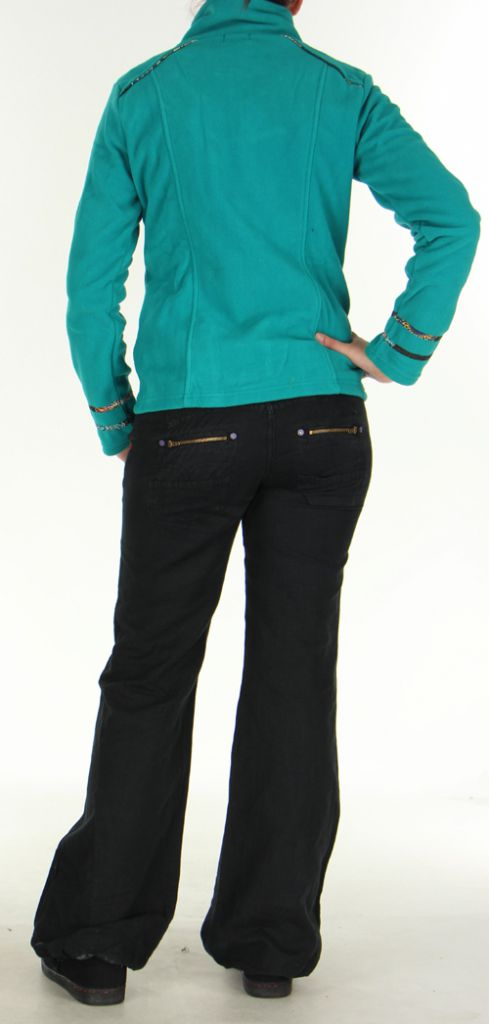 Veste Colorée et Chaude pour Femme en polaire Shainel Emeraude 276201