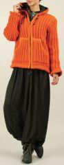 Veste courte en Laine Chaude et Originale Ludovica Orange 275030