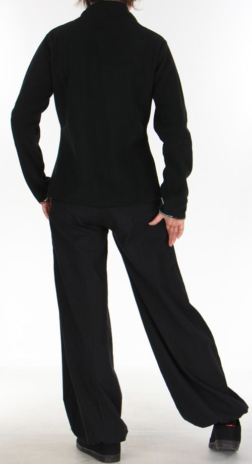 Veste en polaire pour Femme  Colorée et Chaude Ohana Noire 275975