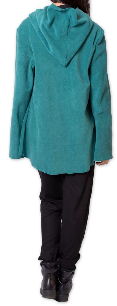Veste Femme en polaire Ethnique et bien Chaude Ottawaa Bleue 275896