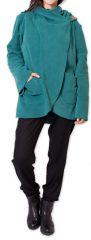 Veste Femme en polaire Ethnique et bien Chaude Ottawaa Bleue 275897