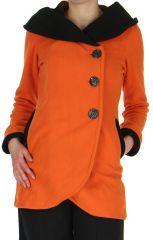 Veste Femme en Polaire Originale et Colorée Loupy Orange 279310