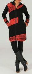Veste mi-longue � capuche Ethnique et Color�e Phila� 274003