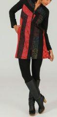 Veste mi-longue à capuche Ethnique et Colorée Robinsa 274008