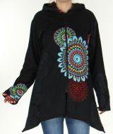 Veste mi-longue pour Femme Ethnique et Color�e Fuzia 278235