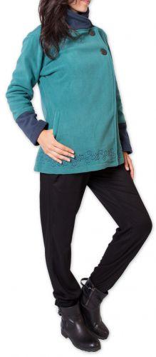 Veste polaire Bicolore et Ethnique pour Femme Kasamance Bleue 275649